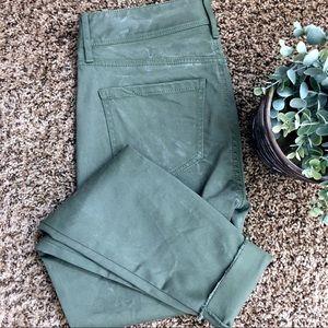 NWOT Loft Marissa Skinny Crop Jeans Olive Size 2